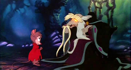 Secret of NIMH movie still - Brisby + Nicodemus